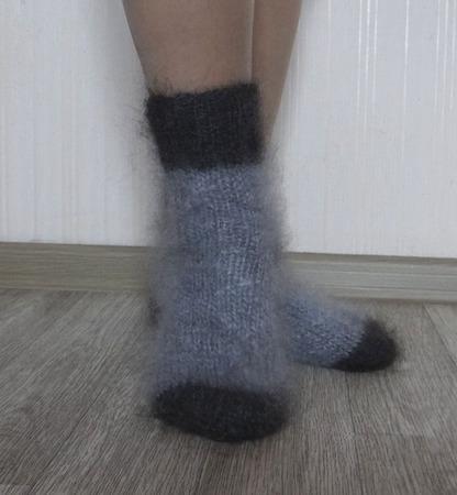 """Носки пуховые""""Зимушка""""-вязанные,теплые. ручной работы на заказ"""
