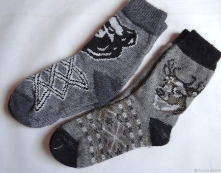 """Носки шерстяные- вязанные-тёплые  """" Подарок мужчине """" ручной работы на заказ"""