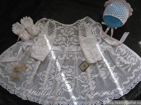 """Крестильное нарядное платье """"Первое торжество"""" вязаное крючком ручной работы на заказ"""