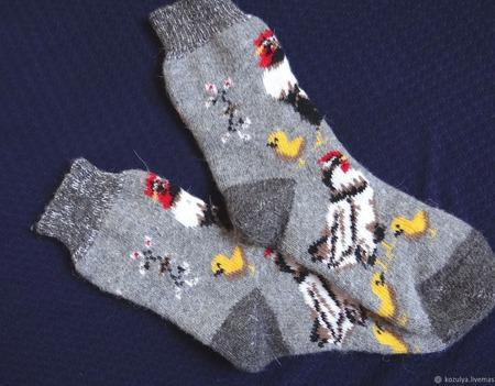 """Носки шерстяные- вязанные-тёплые  """"В подарок """" ручной работы на заказ"""