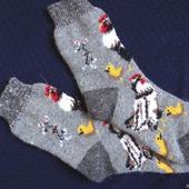 """Носки шерстяные- вязанные-тёплые  """"В подарок """""""