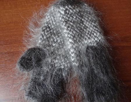 Варежки-рукавички вязанные из козьего пуха ручной работы на заказ