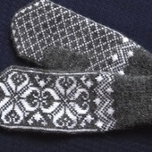 Варежки,рукавицы вязанные шерстяные №9