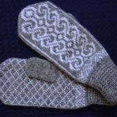 Варежки,рукавицы вязанные шерстяные №8