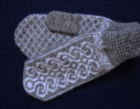 Варежки,рукавицы вязанные шерстяные №8 ручной работы на заказ