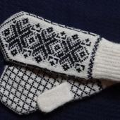 Варежки,рукавицы вязанные шерстяные №4
