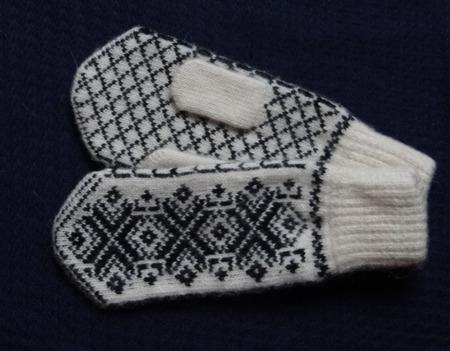 Варежки,рукавицы вязанные шерстяные №4 ручной работы на заказ