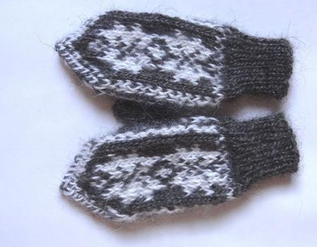 Варежки детские пуховые с Волгоградского козьего пуха ручной работы на заказ