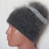 Тёплая пуховая шапка-козий пух.