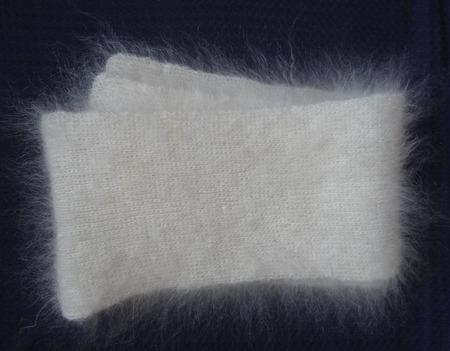 Шарф пуховый,вязанный, белый ручной работы на заказ