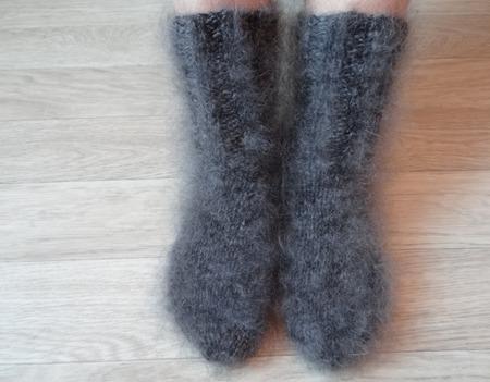 Носки пуховые тёплые. ручной работы на заказ