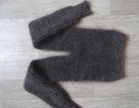 Детские пуховые гамаши из козьего пуха. ручной работы на заказ