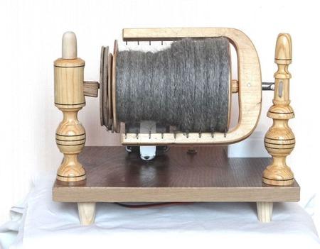 Прялка электрическая для прядения пуха и шерсти. ручной работы на заказ