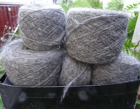 Пуховая пряжа ручного прядения -козий пух с коз придонской породы Ц4. ручной работы на заказ