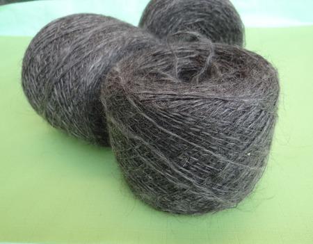 Пуховая пряжа ручного прядения -козий пух с коз придонской породы Д3. ручной работы на заказ