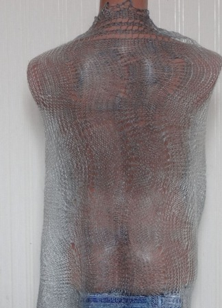 Палантин цветной вязанный с добавлением козьего пуха Арт.003 ручной работы на заказ