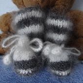 Пинетки вязанные теплые из козьего пуха
