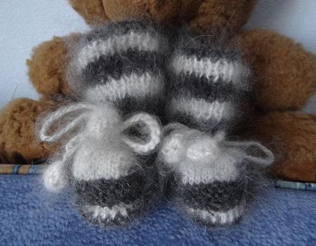Пинетки вязанные теплые из козьего пуха ручной работы на заказ