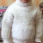 Комплект детский пуховый, тёплый - свитер и брюки