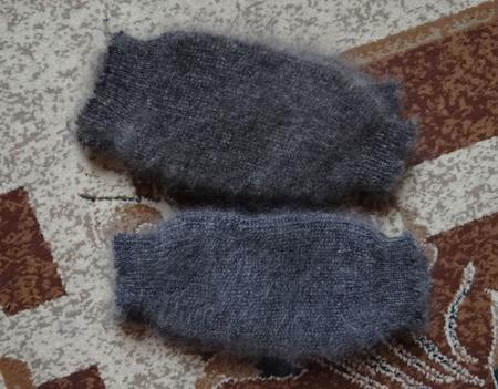 Пуховые наколенники ручной работы на заказ