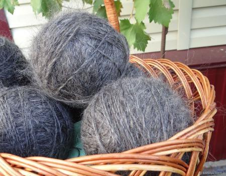 Пуховая пряжа ручного прядения -козий пух с коз придонской породы П2 ручной работы на заказ