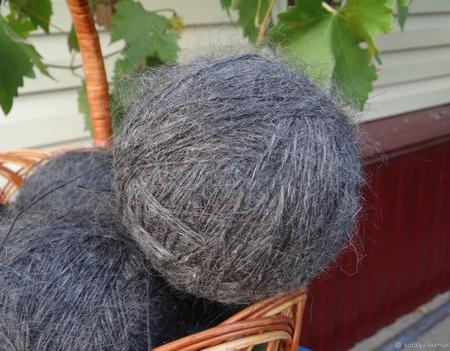 Пуховая пряжа ручного прядения -козий пух с коз придонской породы Р2 ручной работы на заказ