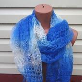 Палантин-шарф вязанный с добавлением козьего пуха Арт..012