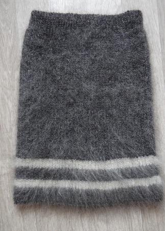 Юбка вязанная из козьего пуха. ручной работы на заказ