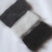 Полоски,повязки на голову- пуховые- вязанные.