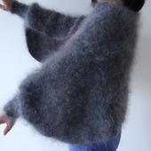 Пуховая шаль-накидка или болеро-шраг .
