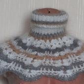 Шарф- манишка пуховая вязанная подростковая