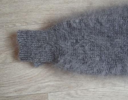 Гетры вязанные пуховые теплые ручной работы на заказ