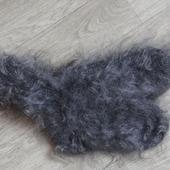 Носки пуховые вязанные,тёплые.