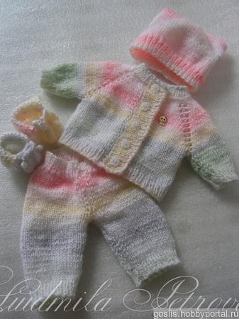 Вязаный комплект для куклы Baby Born, Бэби Долл ручной работы на заказ