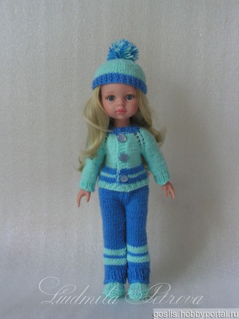 Комплект для куклы Паола Рейна (Paola Reina) вязаный ручной работы на заказ