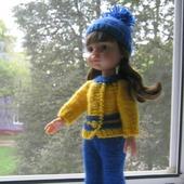 Костюм для куклы Паола Рейна (Paola Reina) вязаный
