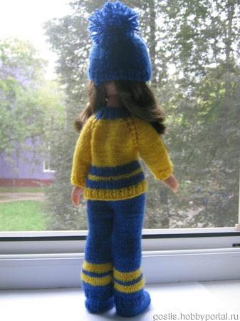 Костюм для куклы Паола Рейна (Paola Reina) вязаный ручной работы на заказ