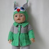 Одежда для куклы Baby Born (Бэби Борн) вязаная