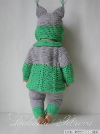 Одежда для куклы Baby Born (Бэби Борн) вязаная ручной работы на заказ