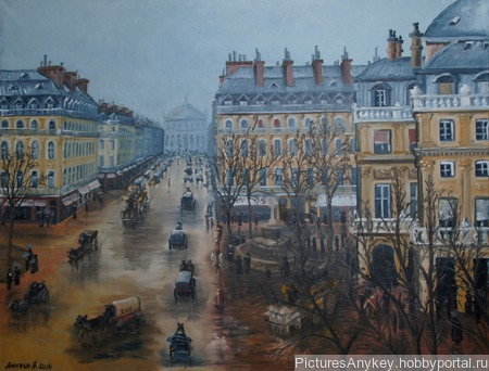 Авеню Опера в Париже ручной работы на заказ