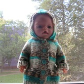 фото: Куклы и игрушки (вязаное пальто для беби борна)