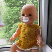 Вязаное платье (комплект) для куклы Baby Born, Бэби Долл