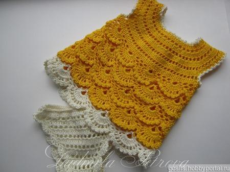 Вязаное платье (комплект) для куклы Baby Born, Бэби Долл ручной работы на заказ
