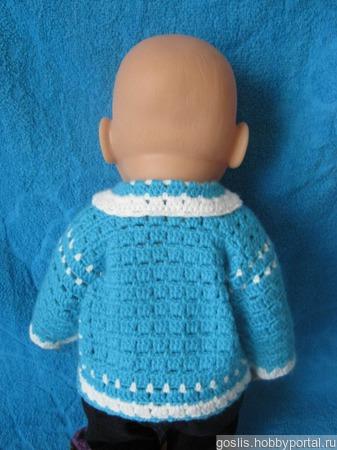 Кофточка для куклы Baby born (Беби борн) вязаная ручной работы на заказ