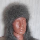 Шапка-ушанка пуховая,тёплая,зимняя мода!