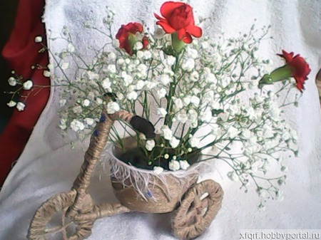 Кашпо для цветов - ВЕЛОСИПЕД ручной работы на заказ
