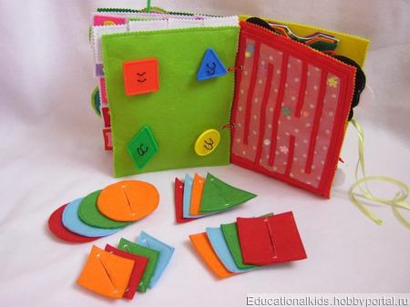 Детские развивающие книжечки для самых маленьких. ручной работы на заказ