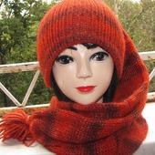 Вязаная шапка- шарф