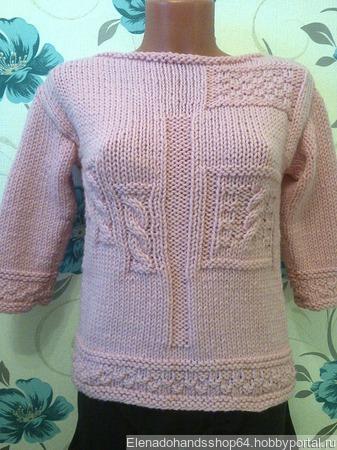Вязаный свитер Hyacinth ручной работы на заказ