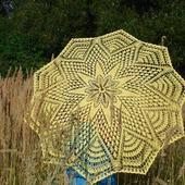 Ажурный зонтик-трость авторская работа